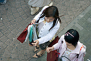 girls shopping in the Harajuku district of Tokyo