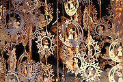 Carved wooden Christmas decorations in the Christmas Markets in Munich