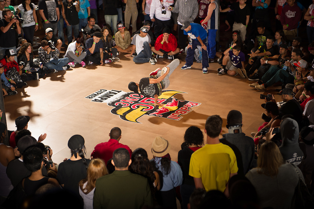 Particapant performs at Red Bull BC One Cypher at 535 Nova in Tampa, FL, USA, on June 25, 2012