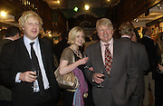 Boris Johnson, Julia Johnson and Stanley Johnson, Book party for 'The Dream of Rome' by Boris Johnson. Daunts bookshop. Marylebone High St. London.  1 February 2006. -DO NOT ARCHIVE-© Copyright Photograph by Dafydd Jones 66 Stockwell Park Rd. London SW9 0DA Tel 020 7733 0108 www.dafjones.com