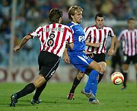 Fotball<br /> La Liga Spania 2005/2006<br /> Getafe v Athletico Bilbao<br /> Foto: Miguelez/Digitalsport<br /> NORWAY ONLY<br /> <br /> Diego Rivas - Getafe<br /> Julen Guerrero Lopez - AB