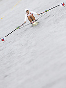 Poznan, POLAND,  POL W1X, Mirka KNAPKOVA, moves away from the start, in her morning heat, at the 2008 FISA World Cup. Rowing Regatta. Malta Rowing Course on Friday, 20/06/2008. [Mandatory Credit:  Peter SPURRIER / Intersport Images] Rowing Course:Malta Rowing Course, Poznan, POLAND