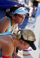 Volleyball, Sandvolleyball, World Tour Stavanger, Grand Slam, 30/06-05,<br />Ingrid Tørlen (uskarp) Nila Håkedal depper etter tapet,<br />Foto: Sigbjørn Andreas Hofsmo, Digitalsport