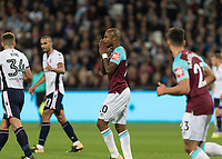 Football - 2017 / 2018 EFL (League) Cup - Third Round: West Ham United vs. Bolton Wanderers<br /> <br /> Andre Ayew (West Ham United)  reacts after going close at the London Stadium.<br /> <br /> <br /> COLORSPORT/DANIEL BEARHAM