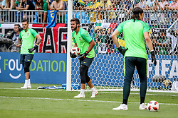 July 2, 2018 - Samara, Vazio, Russia - Alisson Ramses Becker  during warm-up before the game between Brazil and Mexico valid for the octaves of finals of the World Cup of 2018, held in Arena Samara (Credit Image: © Thiago Bernardes/Pacific Press via ZUMA Wire)