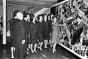 05/04/1963<br /> 04/05/1963<br /> 05 April 1963<br /> Aer Lingus Hostesses visit Jacob's Biscuit factory, Dublin