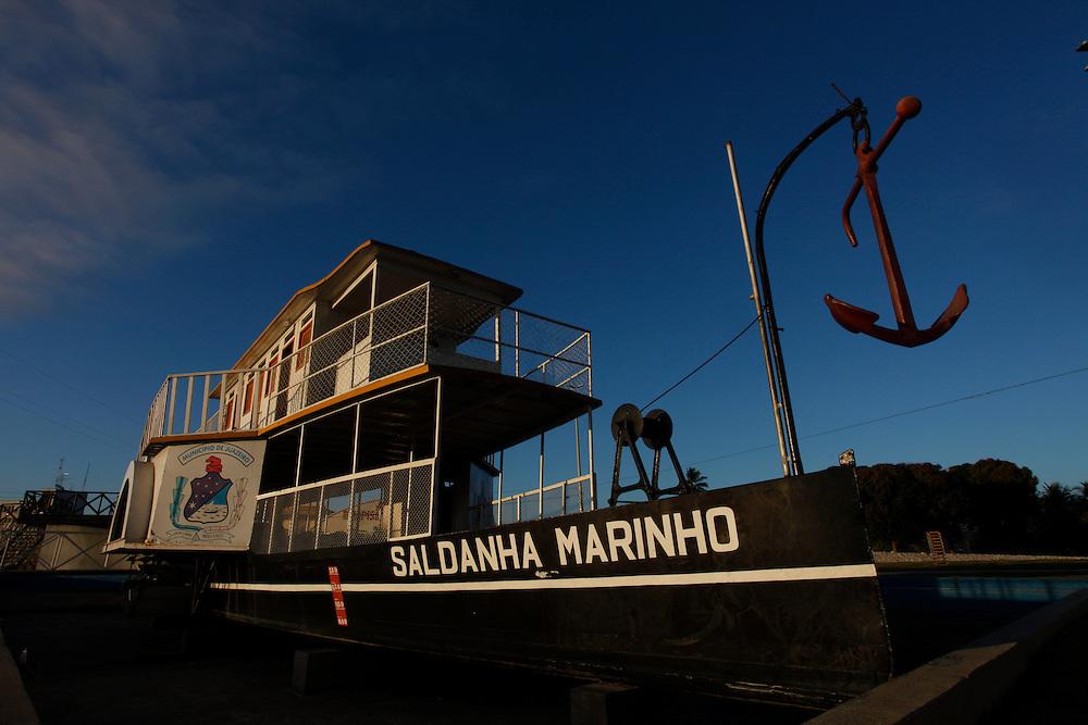 Juazeiro_BA, Brasil.<br /> <br /> Na foto, o barco a vapor Saldanha Marinho, o primeiro a navegar pelo Rio Sao Francisco em Juazeiro, Bahia.<br /> <br /> In the photo, the boat Saldanha Mariho steam, the first to navigate the Sao Francisco river in Juazeiro, Bahia.<br /> <br /> Foto: LEO DRUMOND / NITRO