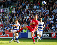 Photo: © Andrew Fosker / Richard Lane Photography -  QPR's Akos Buzsaky curls in his second goal and QPR's 3rd of the first half - the defender is Stephen Foster (R) - Queens Park Rangers v Barnsley - Coca-Cola Championship - 26/09/09 Loftus Road - London -  UK - All Rights Reserved