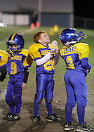 Salisbury Mills, New York - Washingtonville players on the sideline during an Orange County Youth Football League game on Oct. 16, 2010.
