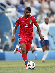 Fidel Escobar of Panama during the 2018 FIFA World Cup Russia group G match between England and Panama at the Nizhny Novgorod stadium on June 24, 2018 in Nizhny Novgorod, Russia