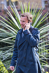 Downing Street, London, April 12th 2016. Health Secretary Jeremy Hunt arrives at the weekly cabinet meeting. <br /> ©Paul Davey<br /> FOR LICENCING CONTACT: Paul Davey +44 (0) 7966 016 296 paul@pauldaveycreative.co.uk