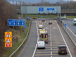 Traffic at Hermiston Gait. Traffic towards Edinburgh on the morning after the Lockdown.