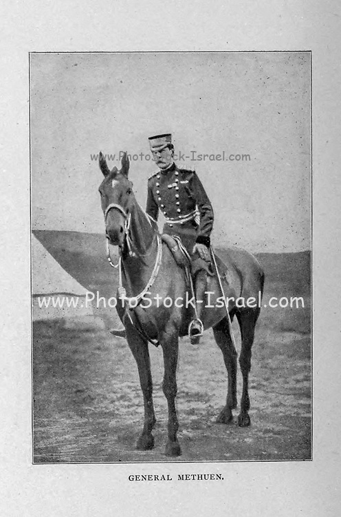 Field Marshal Paul Sanford Methuen, 3rd Baron Methuen, GCB, GCMG, GCVO, DL (1 September 1845 – 30 October 1932) was a British Army officer. He served in the Third Anglo-Ashanti War in 1873 and then in the expedition of Sir Charles Warren to Bechuanaland in the mid 1880s. He took a prominent role as General Officer Commanding the 1st Division in the Second Boer War. He suffered a serious defeat at the Battle of Magersfontein, during which he failed to carry out adequate reconnaissance and accordingly his artillery bombarded the wrong place leading to the Highland Brigade taking heavy casualties. He was later captured by the Boers at Tweebosch. After the war he became General Officer Commanding-in-Chief in South Africa in 1908, Governor and Commander-in-Chief of Natal in 1910 and then Governor and Commander-in-Chief of Malta in 1915. from the book ' Boer and Britisher in South Africa; a history of the Boer-British war and the wars for United South Africa, together with biographies of the great men who made the history of South Africa ' By Neville, John Ormond Published by Thompson & Thomas, Chicago, USA in 1900