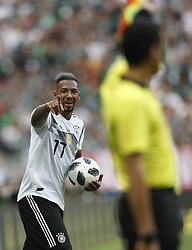 MOSCOW, June 17, 2018  Jerome Boateng (L) of Germany reacts during a group F match between Germany and Mexico at the 2018 FIFA World Cup in Moscow, Russia, June 17, 2018. Mexico won 1-0. (Credit Image: © Cao Can/Xinhua via ZUMA Wire)