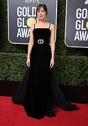 Dakota Johnson at the 75th Annual Golden Globe Awards held at the Beverly Hilton Hotel on January 7, 2018 in Beverly Hills, CA ©Tammie Arroyo-GG18/AFF-USA.com. 07 Jan 2018 Pictured: Dakota Johnson. Photo credit: MEGA TheMegaAgency.com +1 888 505 6342