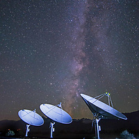Antennae for the Deep Synoptice Array of radio telescopes at Cal Tech's Owens Valley Radio Observatory seek clues to mysteries of the universe.