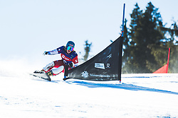Julie Zogg (SUI) during parallel giant slalom FIS Snowboard Alpine world championships 2021 on 1st of March 2021 on Rogla, Slovenia, Slovenia. Photo by Grega Valancic / Sportida