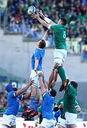 February 24, 2019 - Rome, Italy - Italy v Ireland - Rugby Guinness Six Nations.Dean Budd of Italy and Peter OMahony of Ireland at Olimpico Stadium in Rome, Italy on February 24, 2019. (Credit Image: © Matteo Ciambelli/NurPhoto via ZUMA Press)