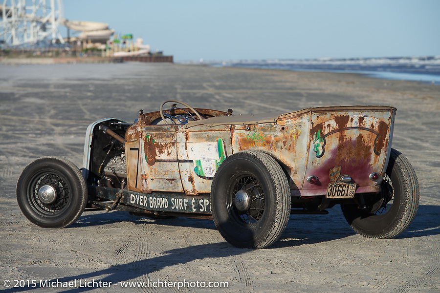 Mason Dyer's Ford Phaeton from San Diego, CA at the Race of Gentlemen. Wildwood, NJ, USA. October 10, 2015.  Photography ©2015 Michael Lichter.