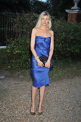 TANIA STRECKER at a Summer party hosted by Lady Annabel Goldsmith at her home Ormeley Lodge, Ham, Surrey on 14th July 2009.