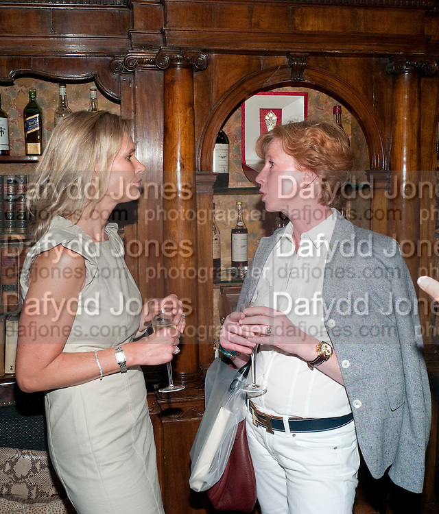TIA GRAHAM; CHRISTINE LA ROSEE, Book launch for Gentlemen and Blackguards by Nicholas Foulkes. Mark's Club. Charles St. London. 24 May 2010. -DO NOT ARCHIVE-© Copyright Photograph by Dafydd Jones. 248 Clapham Rd. London SW9 0PZ. Tel 0207 820 0771. www.dafjones.com.