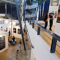 General view of the location of Art Market exhibition in Budapest, Hungary on October 12, 2014. ATTILA VOLGYI