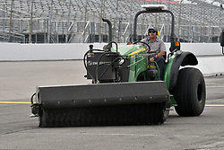 June 22, 2018 - Madison, Illinois, U.S. - MADISON, IL - JUNE 22:  Periodic rainshowers required the track drying crew to work on the track before the Camping World Truck Series - Eaton 200 on June 22, 2018, at Gateway Motorsports Park, Madison, IL.   (Photo by Keith Gillett/Icon Sportswire) (Credit Image: © Keith Gillett/Icon SMI via ZUMA Press)