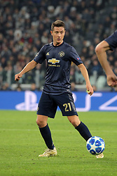 November 7, 2018 - Turin, Turin, Italy - Ander Herrera #21 of Manchester United during  the UEFA Champions League group H match between Juventus FC and Manchester United at Allianz Stadium on November 07, 2018 in Turin, Italy. (Credit Image: © Giuseppe Cottini/NurPhoto via ZUMA Press)