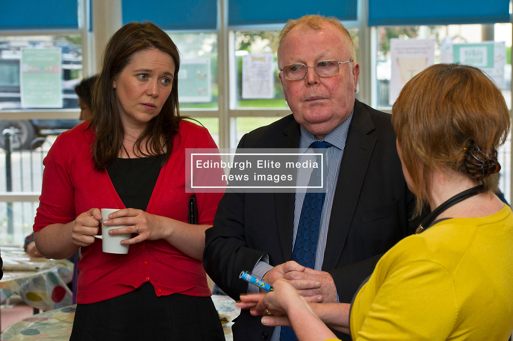 Pictured: Aileen Campbell and  Peter Johnston were shown around the project by Fiona Cross, Ripple Director<br /> <br /> Public Health Minister Aileen Campbell and Cosla health and social care spokesman Peter Johnston visited the Ripple project in Edinburgh today to launch their joint launch public health priorities for Scotland<br /> <br /> Ger Harley | EEm 14 June 2018