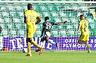 Goal - Freddie Ladapo (19) of Plymouth Argyle scores a goal to make the score 2-1 during the EFL Sky Bet League 1 match between Plymouth Argyle and Burton Albion at Home Park, Plymouth, England on 20 October 2018.