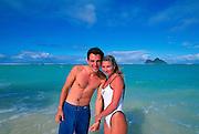 Couple on Beach,Hawaii, USA<br />
