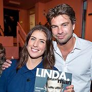 NLD/Amsterdam/20171114 - Lancering LINDA.man Johnny, Marieke Elsinga en Rick Brandsteder