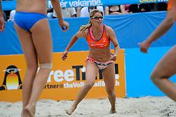 06-06-2010 VOLLEYBAL: JIBA GRAND SLAM BEACHVOLLEYBAL: AMSTERDAM<br /> In een koninklijke ambiance streden de nationale top, zowel de dames als de heren, om de eerste Grand Slam titel van het seizoen bij de Jiba Eredivisie Beach Volleyball - Rebekka de Kogel-Kadijk<br /> ©2010-WWW.FOTOHOOGENDOORN.NL