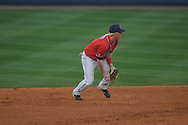 Ole Miss' Austin Anderson (8) tosses to second for a force out vs. Lipscomb at Oxford-University Stadium in Oxford, Miss. on Sunday, March 10, 2013. Ole Miss won 9-8. The Rebels improve to 16-1.