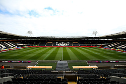A general view of The KCOM Stadium, home to Hull City - Mandatory by-line: Robbie Stephenson/JMP - 05/05/2019 - FOOTBALL - KCOM Stadium - Hull, England - Hull City v Bristol City - Sky Bet Championship