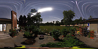 Summertime Night Sky over New Jersey (360 Equirectangular Panorama). Composite of 360 images taken with a Ricoh Theta Z1 camera (ISO 400, dual 2.6 mm fisheye lens, f/3.5, 60 sec).