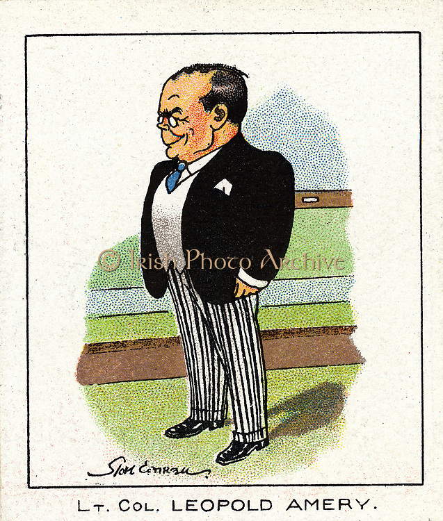 Leopold Charles Maurice Stennett Amery (1873-1955) English Conservative politician. Reputed to have said to Neville Chamberlain in 1940 'In the name of God, go!'. Chromolithograph card 1929.