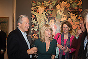 ANDREW KNIGHT; RACHEL JOHNSON; ORIANA TICKELL; , Exhibition opening of paintings by Charlotte Johnson Wahl. Mall Galleries. London, 7 September 2015.
