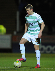 Yeovil Town's Stephen Kingsley - Photo mandatory by-line: Harry Trump/JMP - Mobile: 07966 386802 - 03/03/15 - SPORT - Football - Sky Bet League One - Yeovil v Walsall - Huish Park, Yeovil, England.