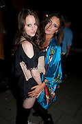 ROSIE FORTESCUE; LILY FORTESCUE, Tatler magazine's  pyjama party sponsored by Thomas Pink. Claridge's. London. 7 July 2011.<br /> <br />  , -DO NOT ARCHIVE-© Copyright Photograph by Dafydd Jones. 248 Clapham Rd. London SW9 0PZ. Tel 0207 820 0771. www.dafjones.com.