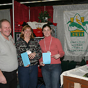 David Naugler, Linda Plank and Ashley Knight at the Ontario Horse Trials Association booth.