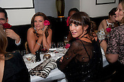 NATHALIE MASSANET; TAMARA MELLON, Dinner hosted by editor of British Vogue, Alexandra Shulman in association with Net-A-Porter.com in honour of 25 years of London Fashion Week and Nick Knight. Caprice. London.  September 21, 2009