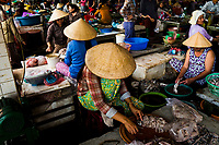 The fish market in central Hoi An, Vietnam.