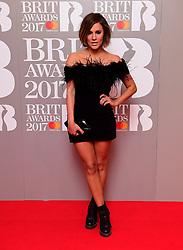 Caroline Flack attending the Brit Awards at the O2 Arena, London.