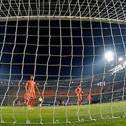 Besiktas's scores during their Turkish Super League soccer match Istanbul Basaksehir between Besiktas at the Basaksehir Fatih Terim Arena at Basaksehir in Istanbul Turkey on Sunday, 09 November 2014. Photo by Kurtulus YILMAZ/TURKPIX