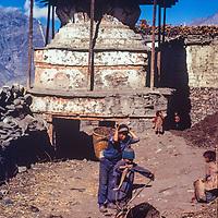 Jarkot Village,near Muktinath Temple, north of Annapurna.