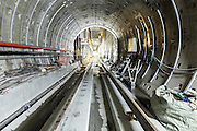 Looking out of the tunnel towards the future Zhongshan station on Taipei MRT's Songshan line, scheduled to open in 2013.