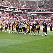 Galatasaray's players during their Turkish superleague soccer derby match Galatasaray between Trabzonspor at the AliSamiYen spor kompleksi TT Arena in Istanbul Turkey on Saturday, 18 May 2013. Photo by Aykut AKICI/TURKPIX