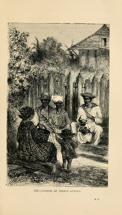 Natives of French Guyana engraving on wood From The human race by Figuier, Louis, (1819-1894) Publication in 1872 Publisher: New York, Appleton