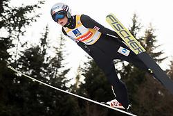February 7, 2019 - Ljubno, Savinjska, Slovenia - Maren Lundby of Norway competes on qualification day of the FIS Ski Jumping World Cup Ladies Ljubno on February 7, 2019 in Ljubno, Slovenia. (Credit Image: © Rok Rakun/Pacific Press via ZUMA Wire)